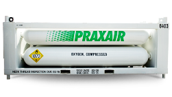 Praxair tubes on rack